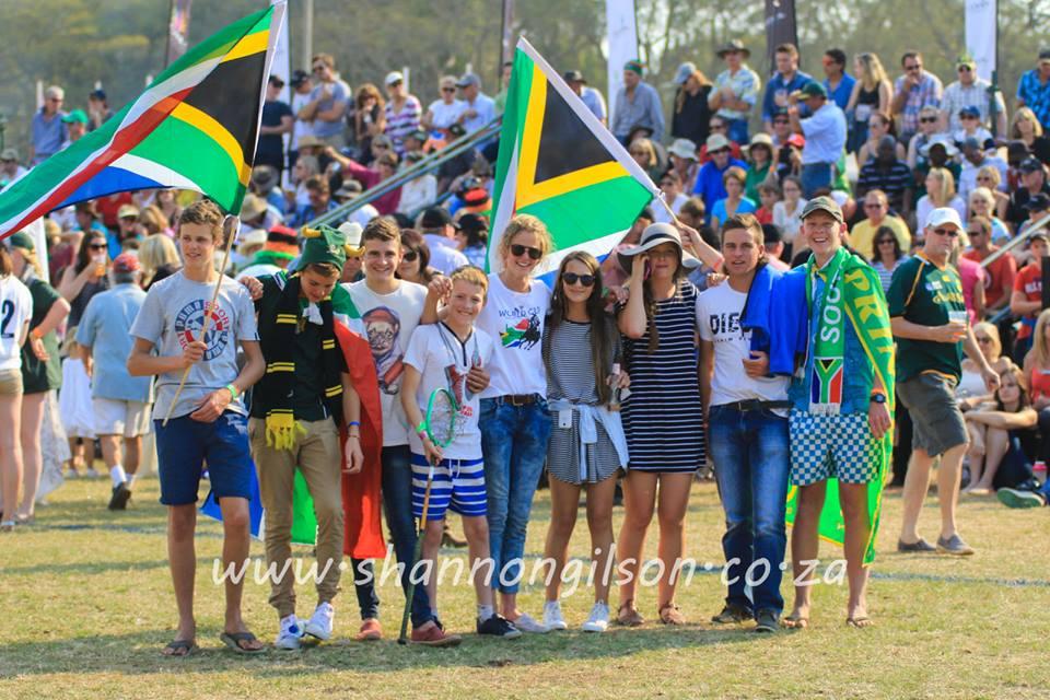 SA kids supporting finals